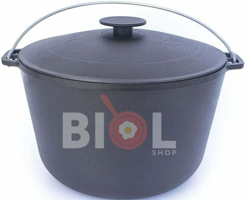 Чугунный казан туристический Биол с крышкой и дужкой 10 л 0710 купить недорого онлайн