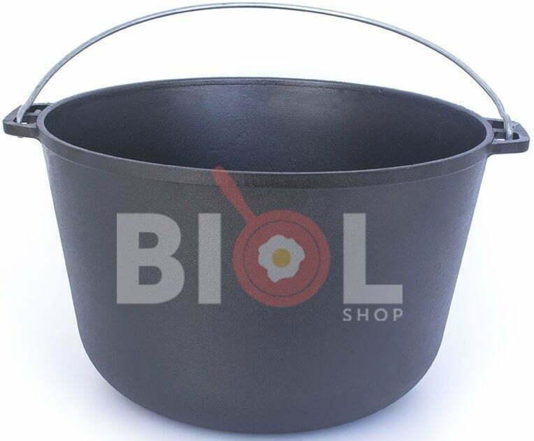 Чугунный казан туристический Биол с крышкой и дужкой 10 л 0710 купить в онлайн магазине