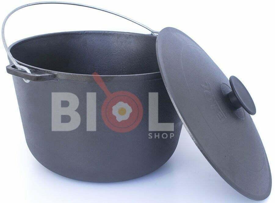Чугунный казан туристический Биол с крышкой и дужкой 10 л 0710 низкая цена