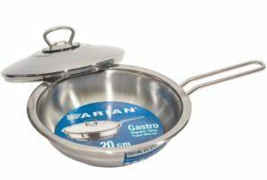Сковороды из нержавеющей стали с крышкой Arian Gastro