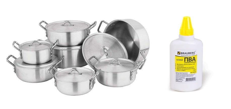 Как очистить сковороду мылом и клеем - 4 способа чистки