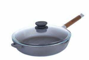 Сковорода чугунная Орион со стеклянной крышкой