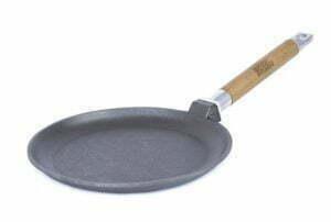 Сковорода чугунная блинная с ровными бортами