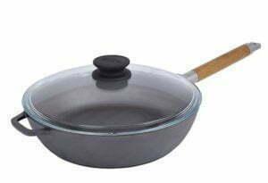 Сковорода чугунная Классик с крышкой