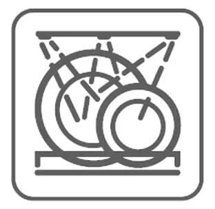 мытье посуды в посудомойке