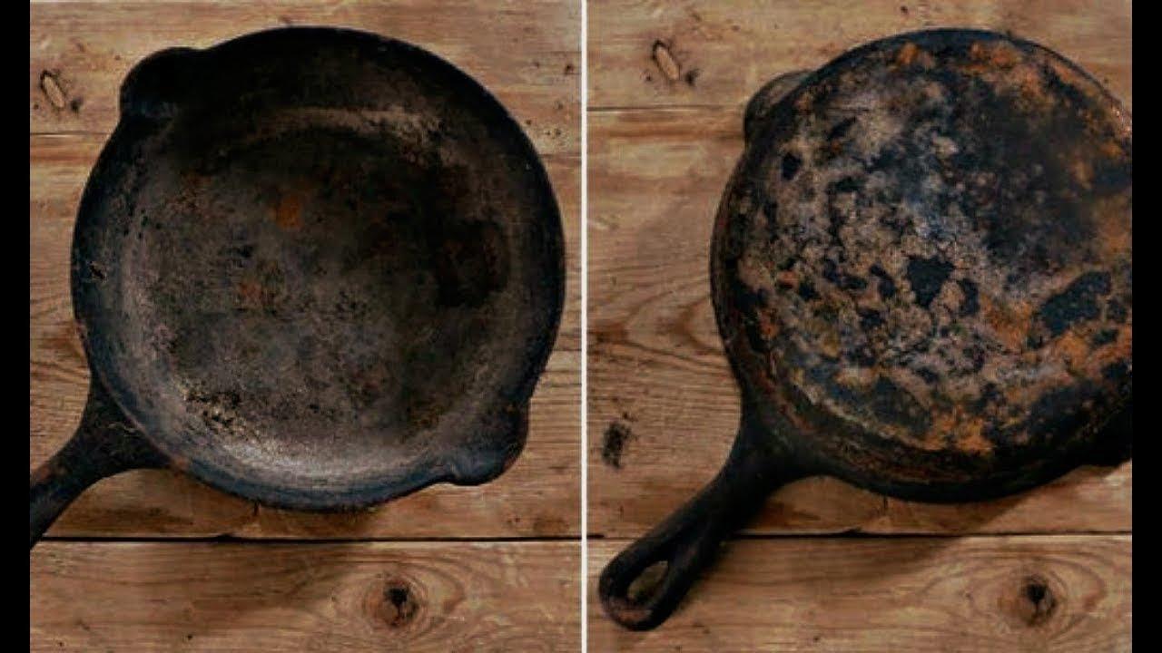 Что делать если чугунная сковорода ржавеет