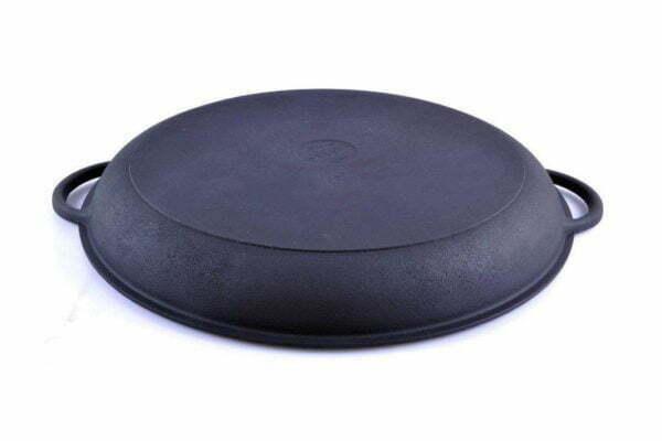 Крышка-сковорода чугунная 45 см рифленая купить недорого