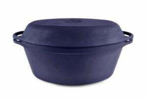 Гусятница чугунная с крышкой-сковородой 40х26 см Ситон 9 л
