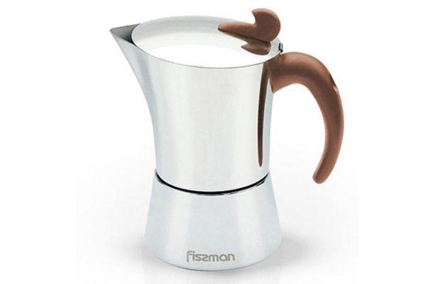 Гейзерная кофеварка 4 чашки Fissman купить недорого