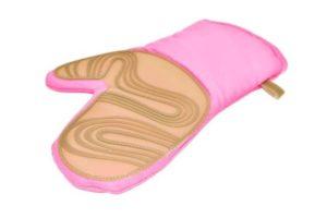 Силиконовая рукавица-прихватка 22 см розовая Fissman купить недорого