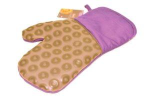 Силиконовая рукавица-прихватка фиолетовая 22 см Fissman купить в интернет магазине
