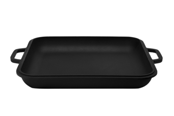 Крышка-сковорода чугунная квадратная 28х28 см купить в Украине