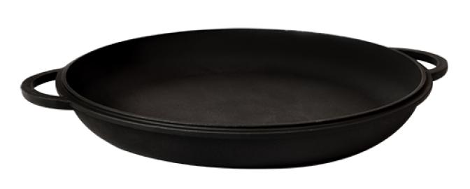 Кастрюля чугунная Ситон с крышкой-сковородой