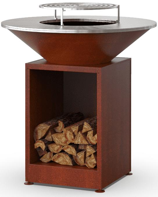 Гриль-мангал барбекю с открытой тумбой HOLLA GRILL под ржавчину купить недорого онлайн
