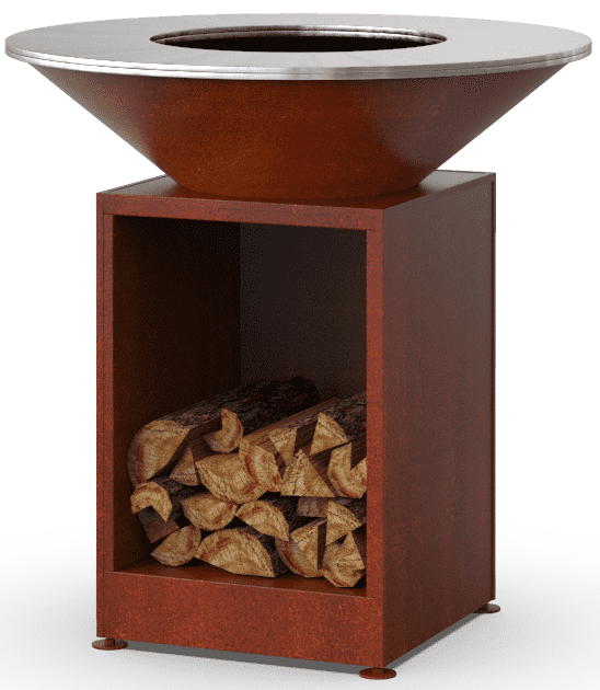 Гриль-мангал барбекю с открытой тумбой HOLLA GRILL под ржавчину доставка по Украине
