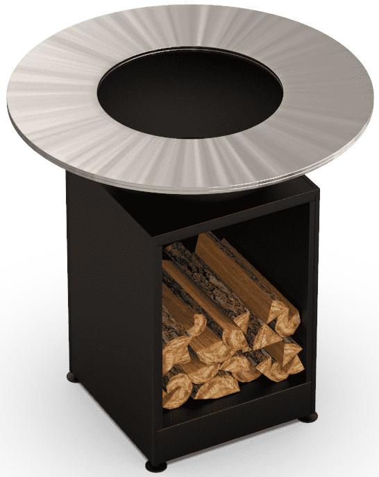 Гриль-мангал барбекю открытая тумба HOLLA GRILL черный низкая цена