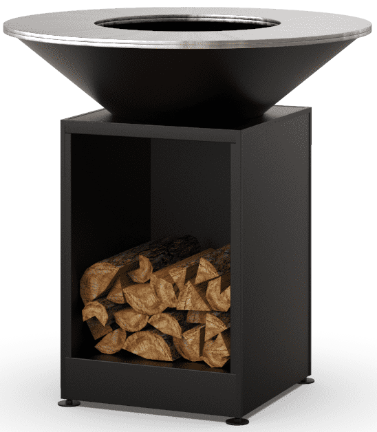 Гриль-мангал барбекю открытая тумба HOLLA GRILL черный купить недорого онлайн