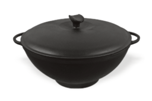 Сковорода чугунная WOK с чугунной крышкой