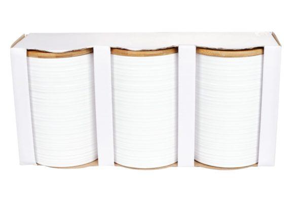 Набор керамических банок BonaDi Naturel 800 мл с крышками 304-903