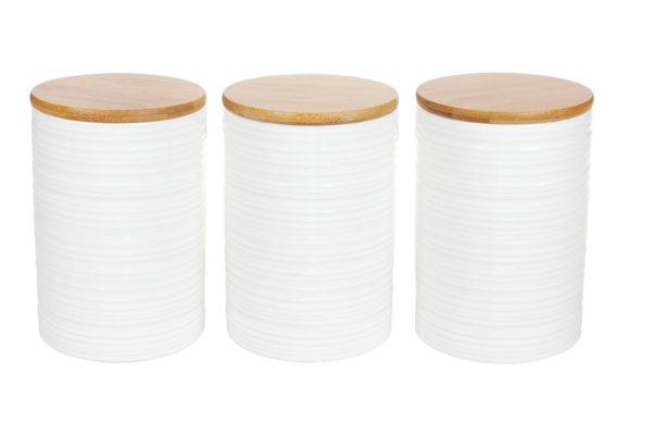Набор керамических банок Naturel 800 мл с крышками BonaDi 304-903