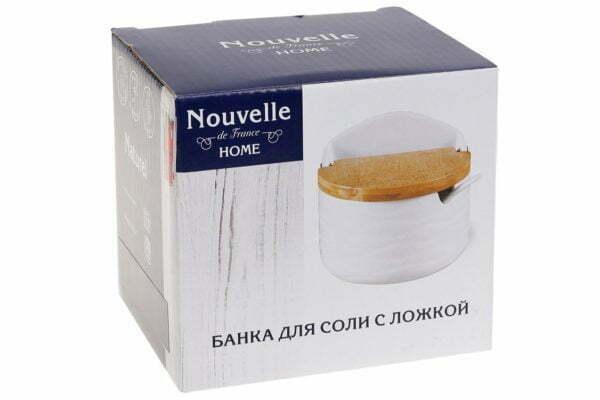 Банка для соли BonaDi Naturel 300мл с ложкой