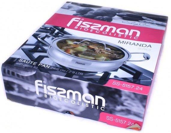Сотейник из нержавейки Fissman Miranda 2,9 л с крышкой заказать на сайте Биол шоп