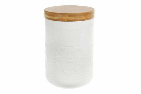 Банка фарфоровая для сыпучих продуктов с крышкой Naturel 900 мл 289-335