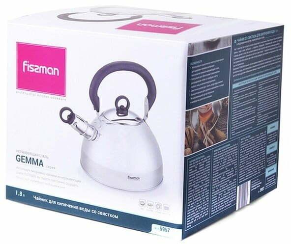 Чайник из нержавеющей стали Fissman Gemma 1,8 л 5957 купить в Киеве