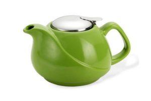Зеленый керамический заварочный чайник Фиссман 0,75 л купить в Украине