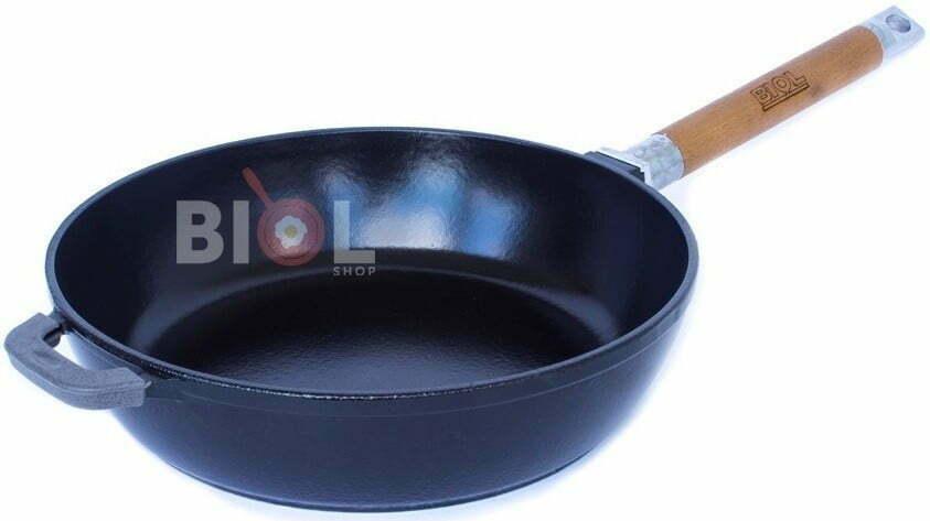 Сковорода Биол чугунная Классик Эмаль со съемной ручкой 24 см 0324э купить недорого онлайн