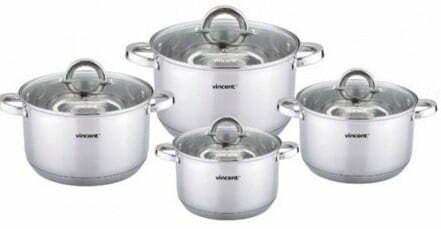 Набор посуды Vincent из нержавеющей стали VC-3030 купить недорого онлайн