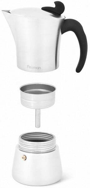 Гейзерная кофеварка на 6 порций Fissman 360 мл 3318 низкая цена