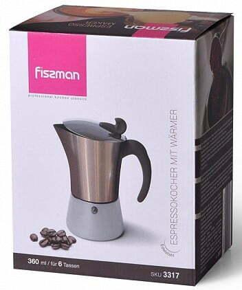 Кофеварка Fissman гейзерная на 6 порций 360 мл 3317 купить с доставкой по Украине