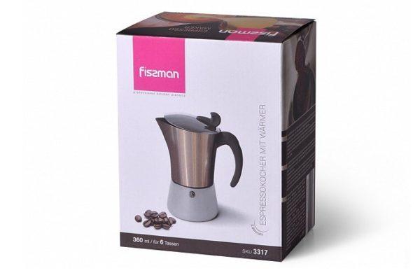 Кофеварка Fissman гейзерная на 6 порций 3317
