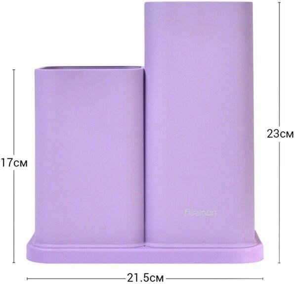 Подставка с двумя отделениями для ножей Fissman 23 см 2872 йфото и характеристика