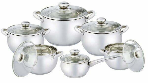 Набор посуды нержавеющая сталь Vincent VC-3033 купить недорого онлайн