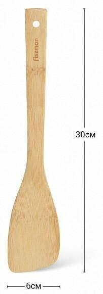 Лопатка Fissman из бамбука 30х6 см 1451 низкая цена