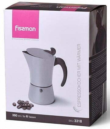 Гейзерная кофеварка на 6 порций Fissman 360 мл 3318 купить в Украине
