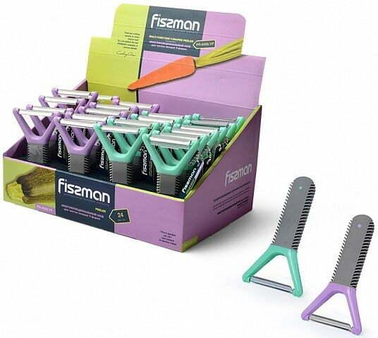 Многофункциональный нож для чистки овощей Y-формы Fissman 8486 купить недорого онлайн