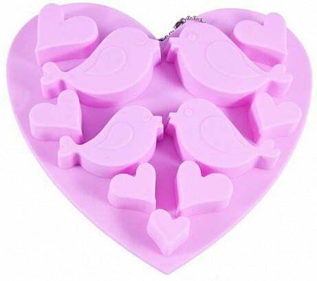 Форма для льда и шоколада Fissman Птицы и Сердечки 6546 купить недорого онлайн