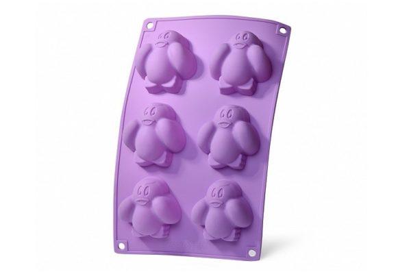 Форма для выпекания кексов Fissman 27,5x17,5x2,8 см Пингвины 6733