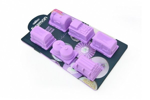 Силиконовая форма для выпекания кексов Fissman 30x17x5 см 6738