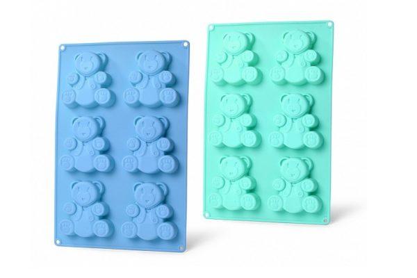 Форма для кексов Fissman 26x17x1,8 см медвежонок 6658