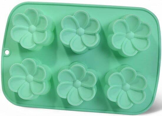 Форма для выпечки 6 кексов Fissman 26x17x3 Цветы 6657 купить недорого онлайн