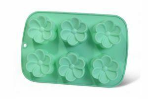 Форма для выпечки 6 кексов Fissman 26x17x3 Цветы низкая цена