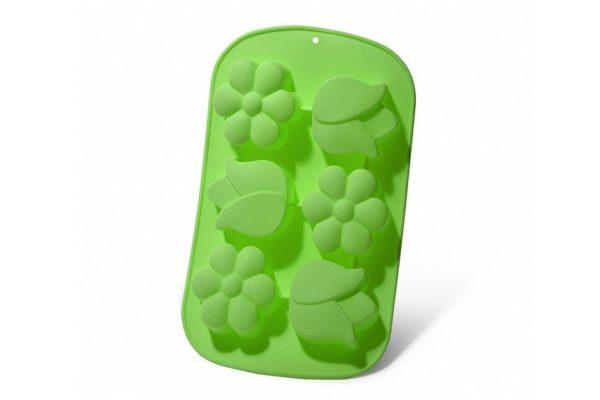 Форма для выпечки 6 кексов Fissman Цветы 26,5x17x3 см 6651