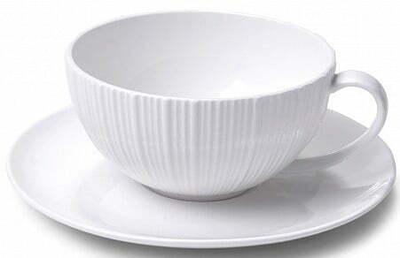 Чашка с блюдцем Fissman Elegance White 250 мл SC-9383.250 купить недорого онлайн