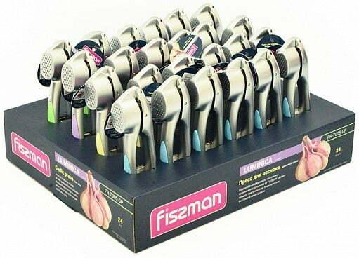 Пресс для чеснока Fissman Luminica 16 см PR-7005.GP купить недорого онлайн