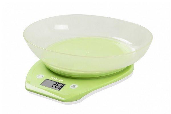 Весы кухонные электронные 22х21х6,6 см с чашей Fissman 0324