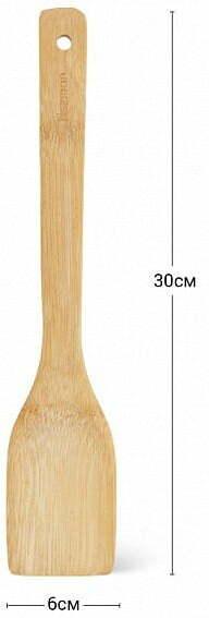 Лопатка бамбуковая Fissman 30х6 см 1450 низкая цена